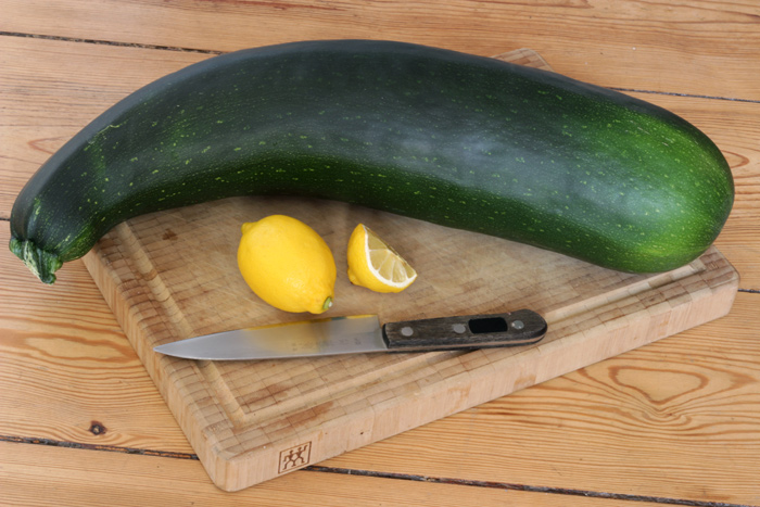 A Giant Zucchini from my friend's Garden - Vegan Moroccan Stuffed Squash - The Lotus and the Artichoke