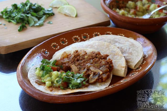 Vegan Soy-Potato Tacos - Lo de Marcos