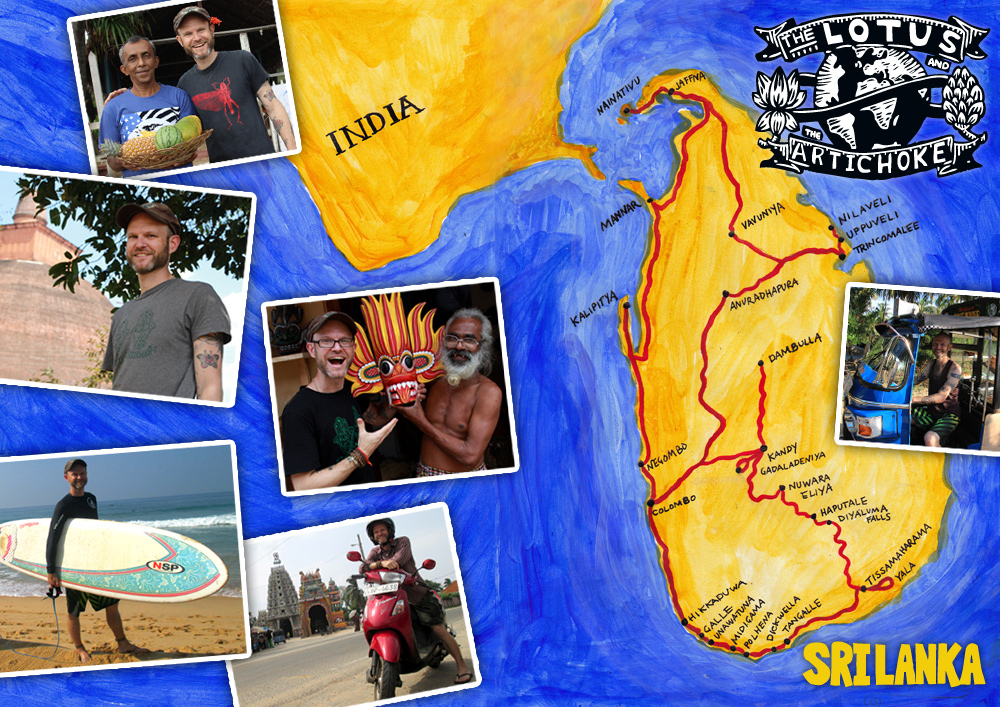 The Lotus and the Artichoke - SRI LANKA travel map