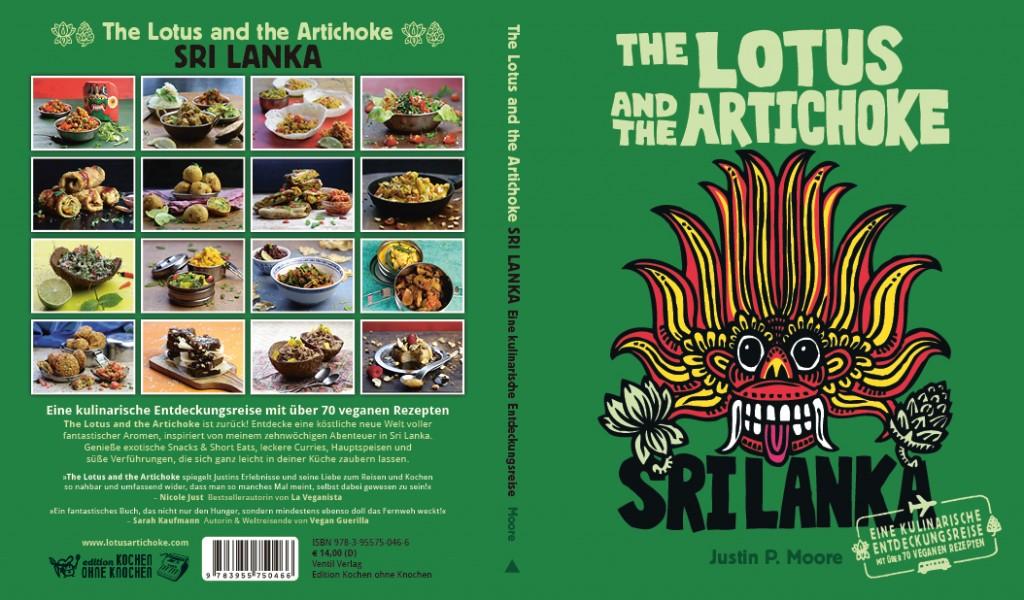 The Lotus and the Artichoke - SRI LANKA veganes Kochbuch Titelbild