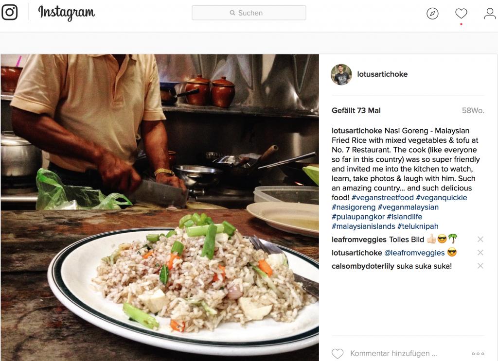 Nasi Goreng - LotusArtichoke Instagram