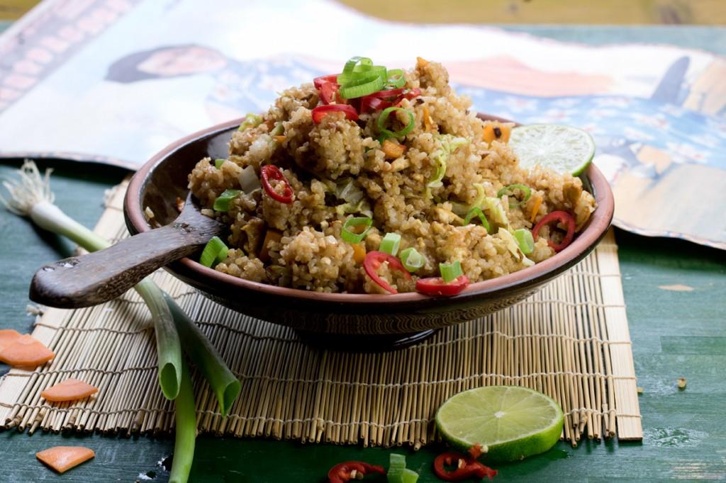 Nasi Goreng from The Lotus and the Artichoke MALAYSIA vegan cookbook