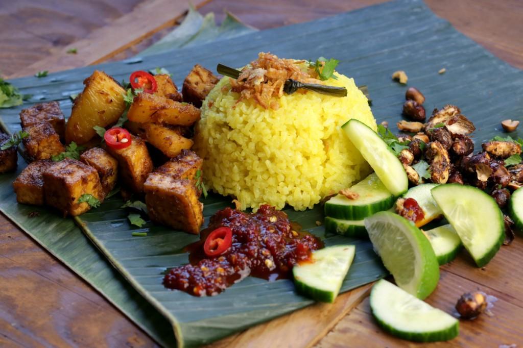 Nasi Lemak from The Lotus and the Artichoke MALAYSIA vegan cookbook
