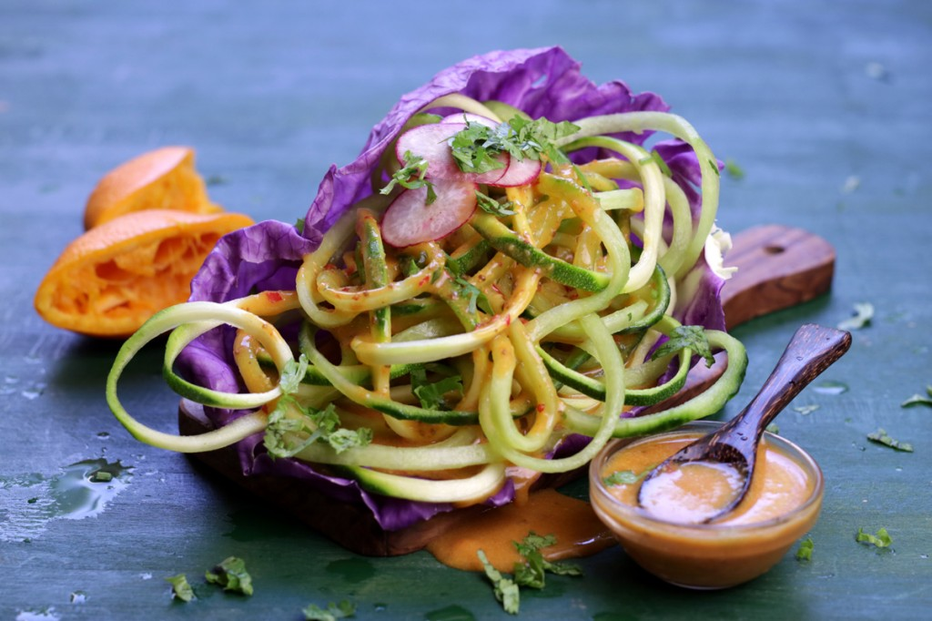 Cucumber Zucchini Noodles from The Lotus and the Artichoke MALAYSIA vegan cookbook